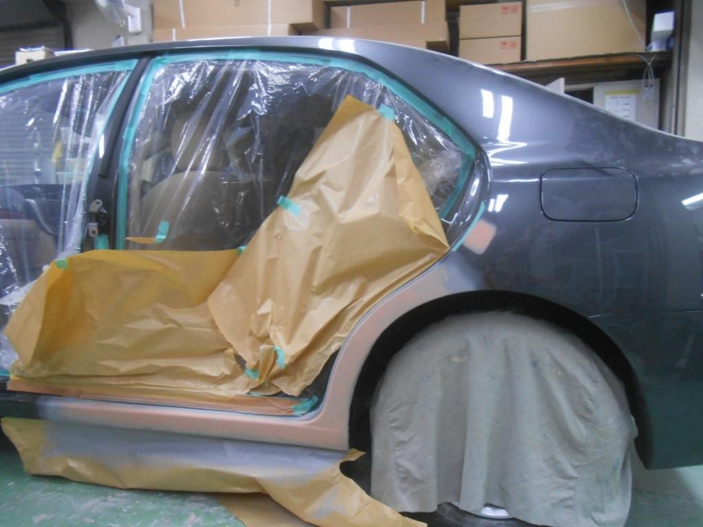 トヨタ・アリオン板金塗装、板金後2