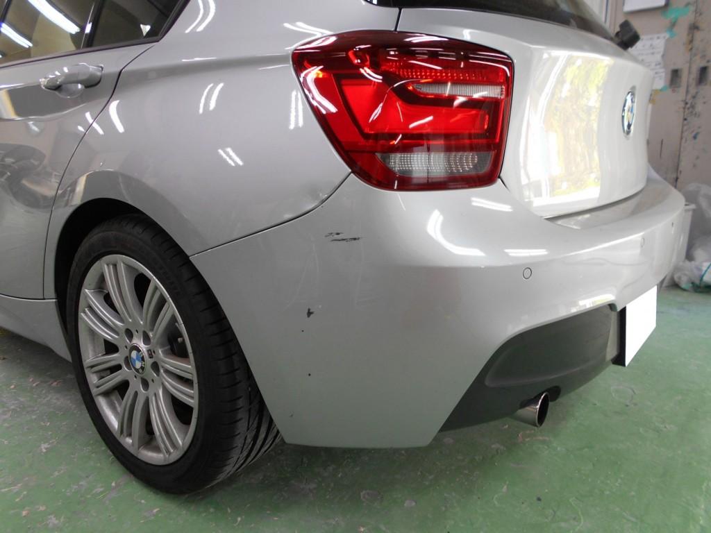 BMW1シリーズ板金塗装着工前