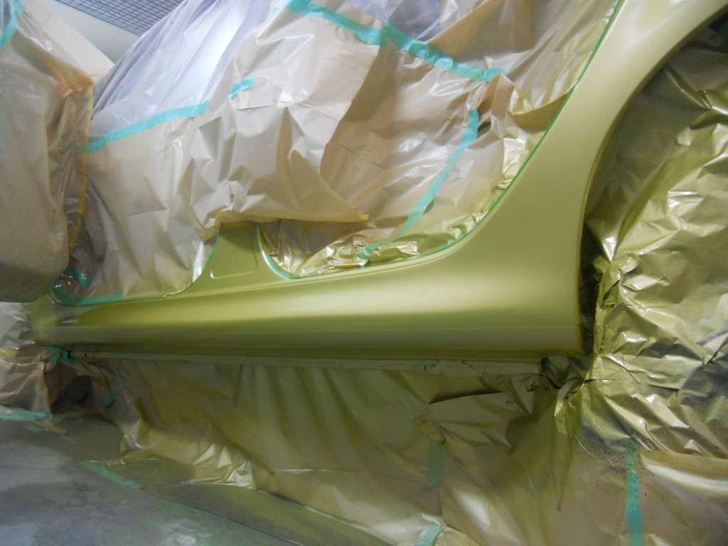 プジョー板金塗装、塗装
