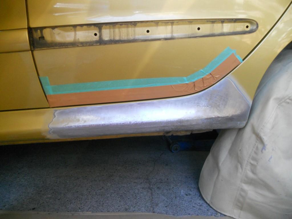 プジョー板金塗装、板金後2