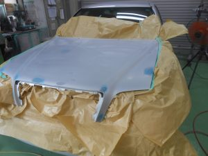 車の修理が広範囲