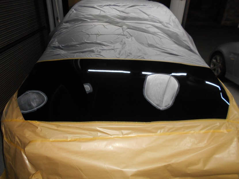 BMWボンネット凹み板金修理