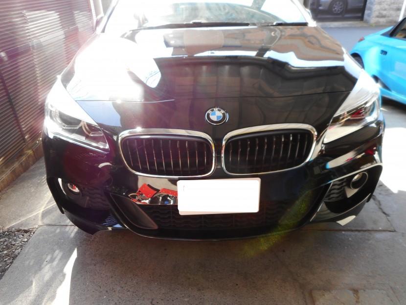 BMW・バンパー擦り傷・完成