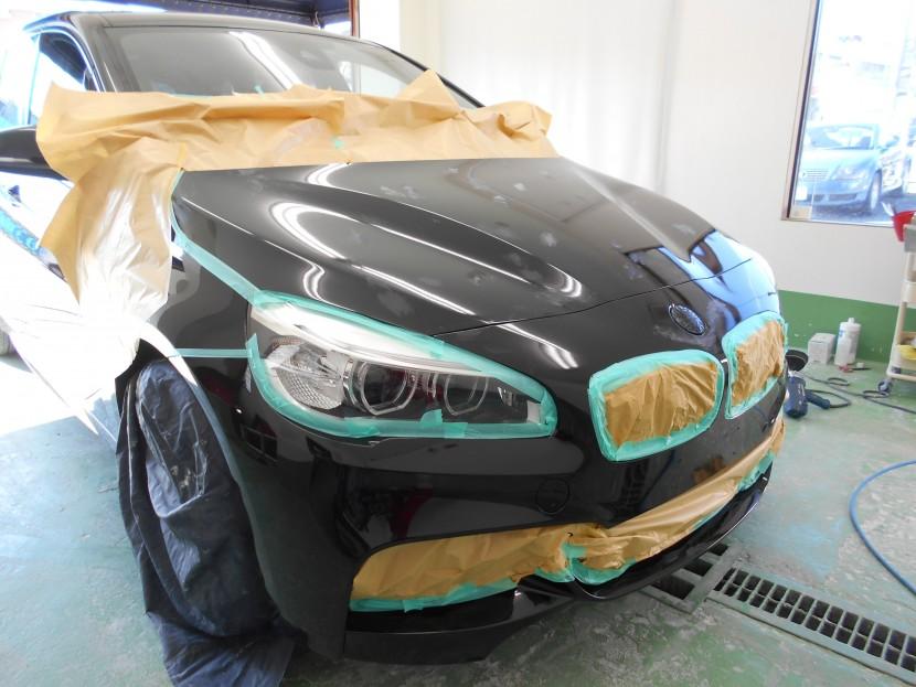 BMW・バンパー擦り傷・磨き