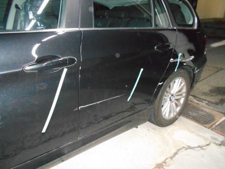 BMW、擦った、凹み・傷、側面