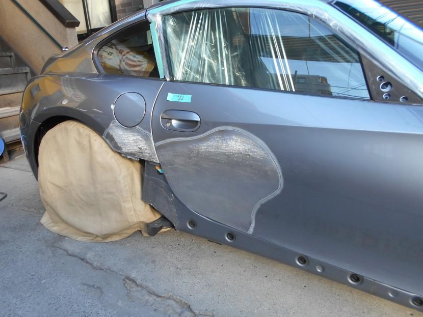 BMW、こすり傷、板金修理