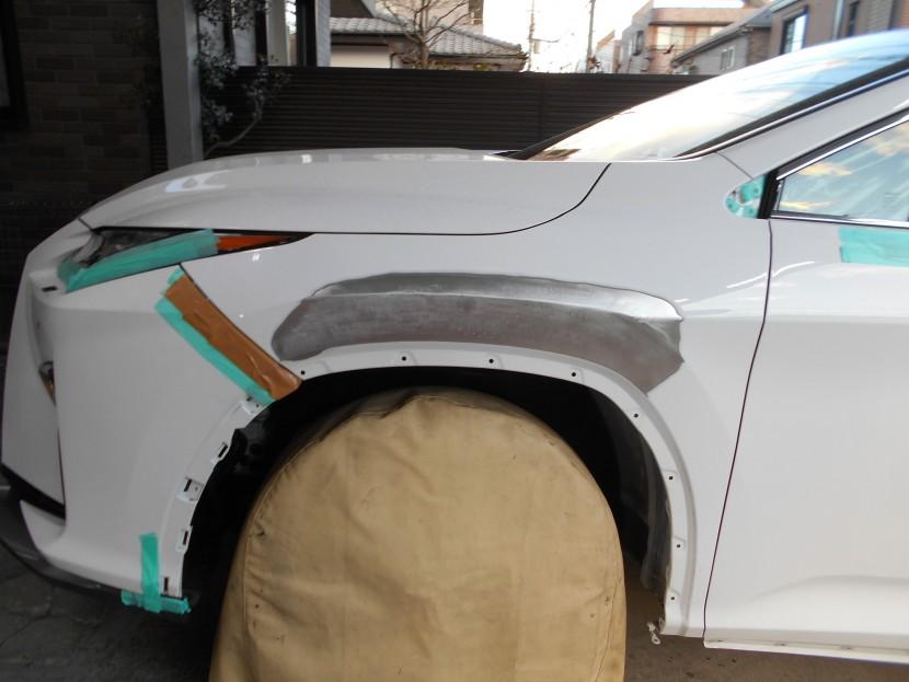 レクサスRX フェンダー板金塗装