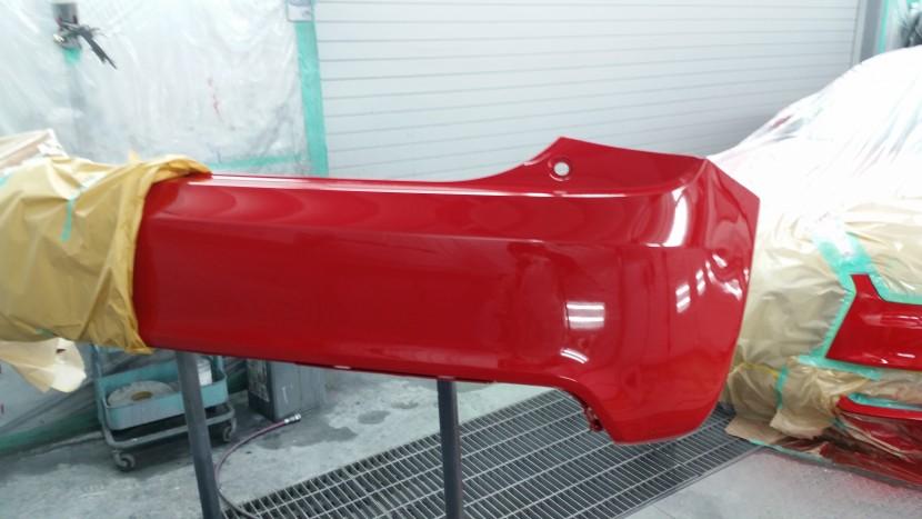 アウディA1、リヤバンパー塗装