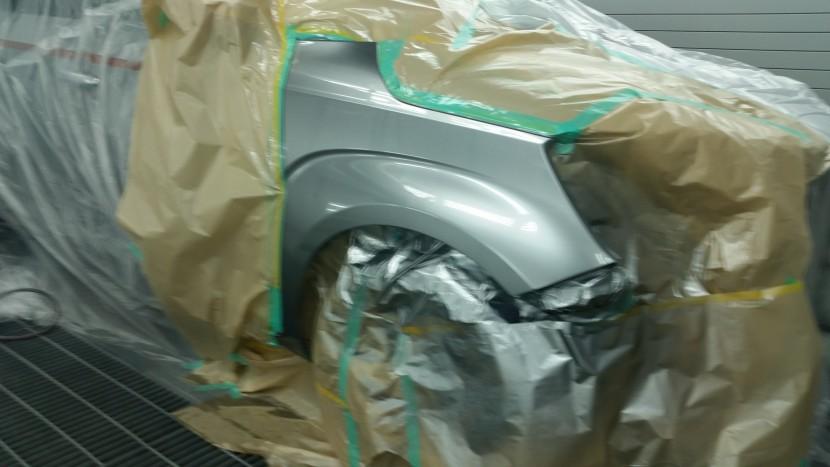 バンパー、フェンダー板金塗装、フェンダー塗装2