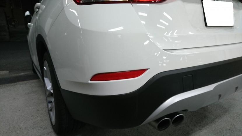 BMWバンパー、へこみ修理完成