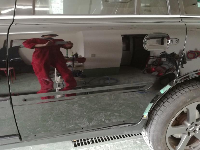 ボルボ、ドアへこみ修理、塗装後