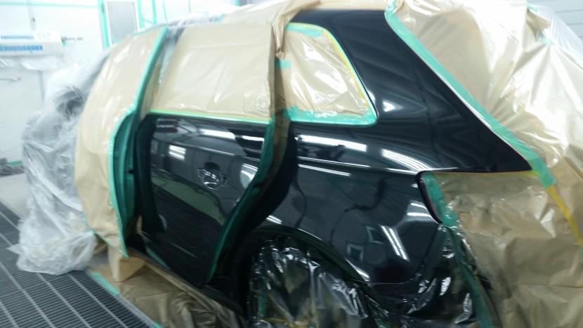 アウディA3、リアドア・リアフェンダーの塗装完了!