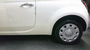 フィアット500・左ロッカーパネルの凹み修理完了!