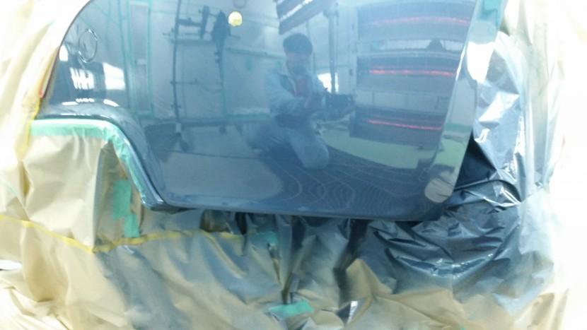 プジョーRCZ・リアバンパーを最小限で塗装