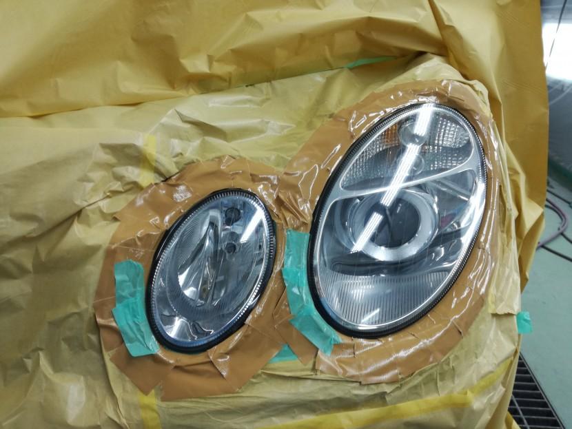ベンツのヘッドランプがツヤと輝きを取り戻す!