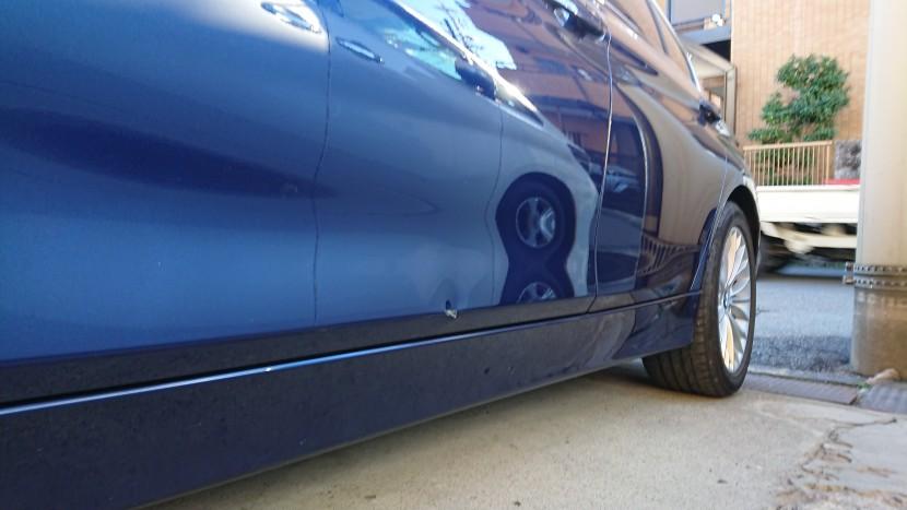 BMWドアの板金塗装/へこみ修理を完璧復元!技術力がなせる技