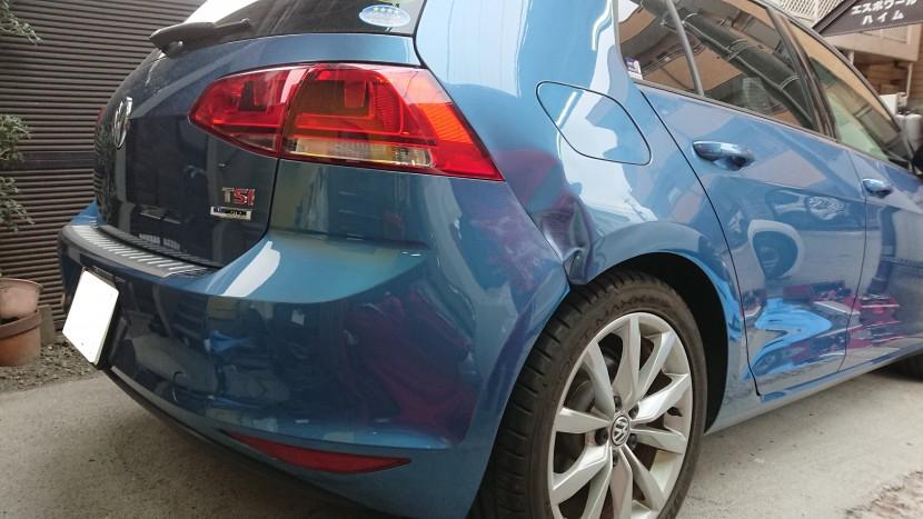 板金塗装【査定に響かない修理方法】フォルクスワーゲン・ゴルフで検証