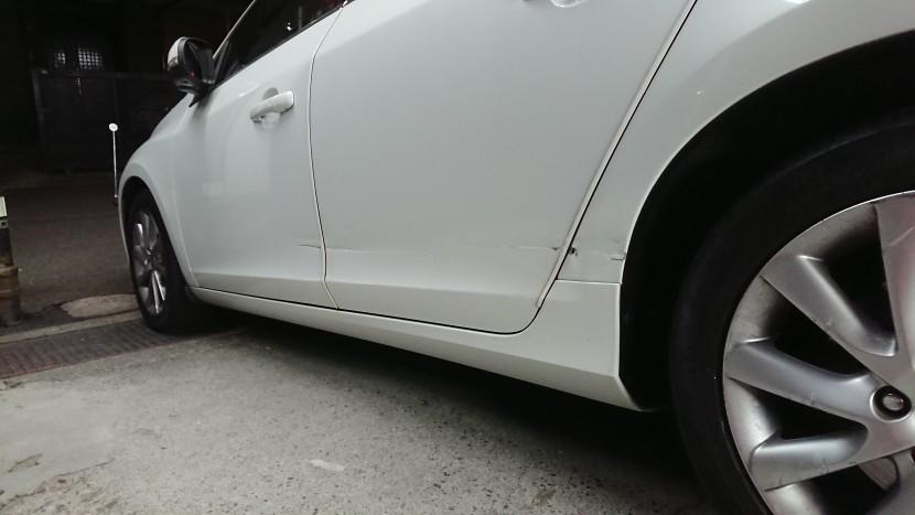ボルボV60板金塗装【思っているより凹みは大きい!】プロ目線