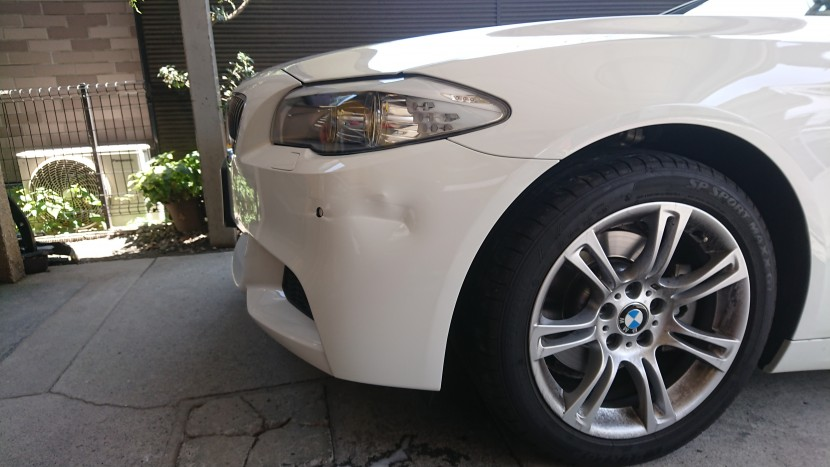 BMW5シリーズのバンパー修理【強度再生が重要】その理由!