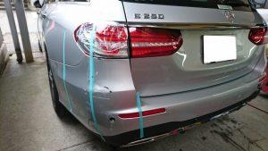 ベンツ修理工場【車両保険を使う】バンパー交換とフレーム修正の事例