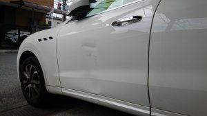 マセラティ板金塗装アルミボディでも修理可能!【交換の半額以下】