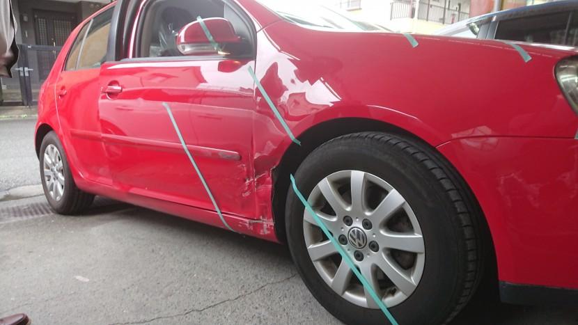 ドアとフェンダーを中古部品に交換【車両保険金額内で】大満足事例