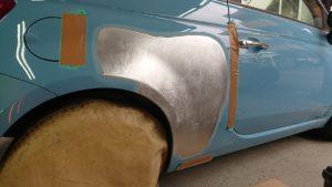 フィアット大損傷/事故車にならない修理方法!価値を下げない板金技術